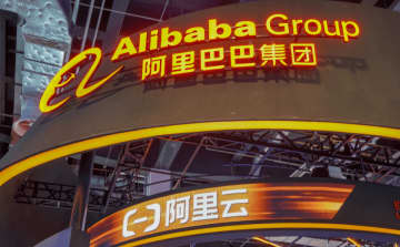 Alibaba's booth at the World Artificial Intelligence Conference on August 30, 2019 in Shanghai. (Image credit: TechNode/Shi Jiayi)