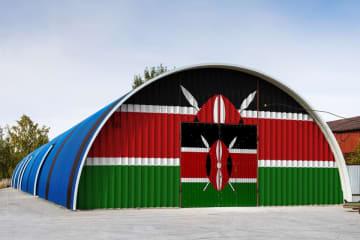 A warehouse painted to resemble the Kenyan flag. (Image credit: Bigstock/Everyonephoto)
