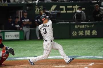 3安打3打点と活躍した侍ジャパンの楽天・浅村栄斗【写真:荒川祐史】