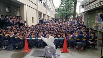 宮川愛李と大阪市立高等学校のみなさん(写真:ラジオ関西)