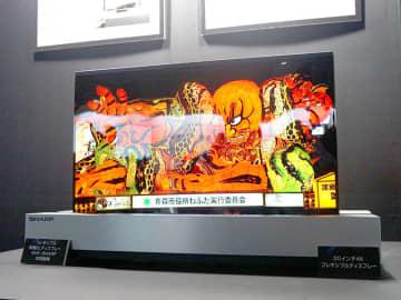 """<Inter BEE>ソニー、440型大画面8K上映や新4K HDRマスモニ/シャープとNHKの""""丸められる""""30型有機ELディスプレイ実機展示"""