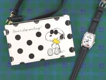 写真は、「steady.」(宝島社)12月号の付録。通常号付録のパスケース(左)と増刊号付録の腕時計(右)