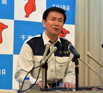 12月補正予算案について記者会見で説明する森田知事=13日、県庁