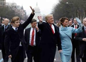 Donald, Baron & Melania Trump