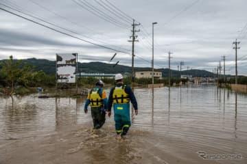 台風19号被災地(10月14日、長野県)