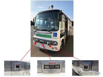 群馬大学の自動運転バス車両に搭載されたパイオニア製3D-LiDARセンサー