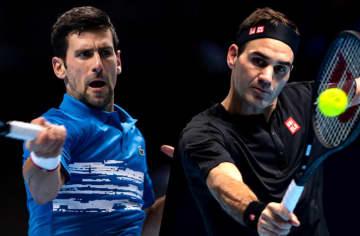 ジョコビッチ(左)とフェデラー(右)