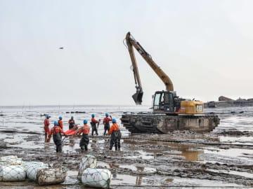 浙江省南麂島と陸地を結ぶ海底ケーブル、敷設完了