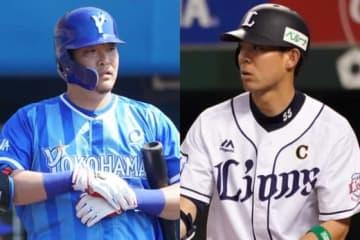 MLB挑戦を表明しているDeNA・筒香嘉智(左)と西武・秋山翔吾【写真:荒川祐史】