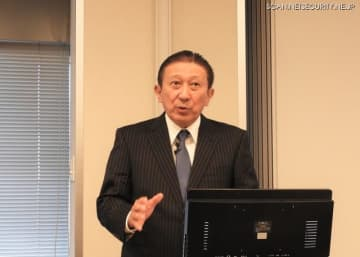 トレンドマイクロの取締役副社長でありTXOne NetworksのChairmanである大三川彰彦氏