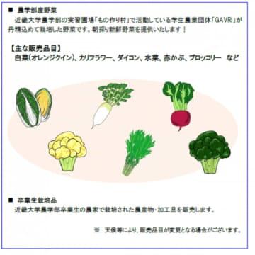 販売する野菜(画像: JR西日本SC開発の発表資料より)