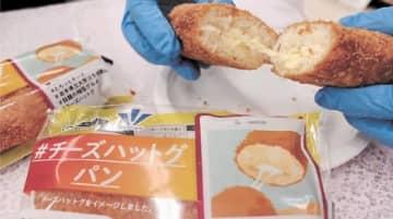韓国の定番おやつ「チーズハットグ」をパンで楽しめるよう開発されたコラボ商品