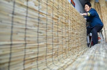 すだれが対日輸出の大産業に 山東省浜州市