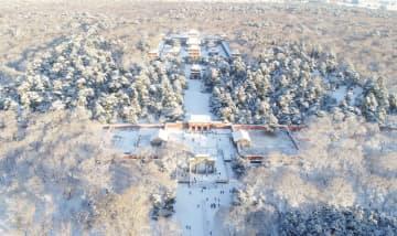 雪化粧した公園で楽しむ冬景色 遼寧省瀋陽市