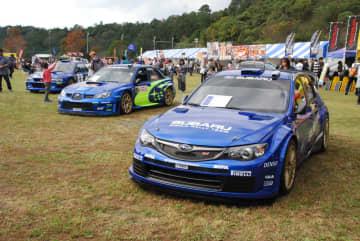 スバル初の「WRXファンミーティング」で展示された歴代WRXのラリーカー