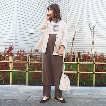 プレママ期でも普通服を活用! ゆるっと大人可愛い秋のマタニティコーデ6選♥
