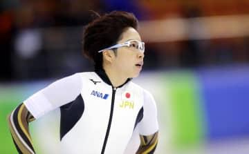 女子500メートルで3位だった小平奈緒=ミンスク(AP=共同)