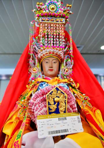 福建省の媽祖像、空路でタイへ 文化交流の旅を開始