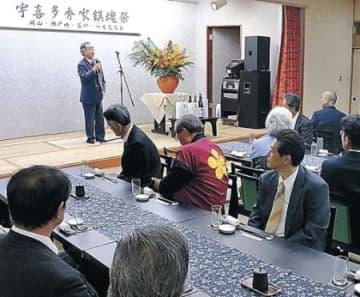 豪姫、秀家の縁強く 八丈島で石川県人会が交流