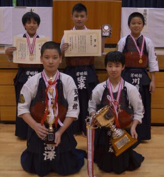 小学生の部で3連覇を果たした芳明館=常陸大宮市西部総合公園体育館