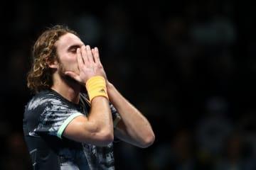 「Nitto ATPファイナルズ」で優勝が決まったときのチチパス