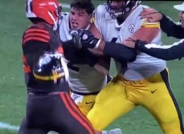 Myles Garrett Hits Mason Rudolph With His Helmet, Gets Indefinite Suspension