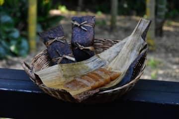 食べきりサイズで高齢者らに人気の「杜の穂倉」のあくまき