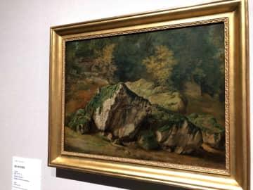 テオドール・ルソー《木の幹の習作》1833年 Musée d'Art Moderne et Contemporain de Strasbourg, Photo Musées de Strasbourg.