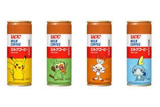 「ピカチュウ」「サルノリ」などをデザインした「UCC ミルクコーヒー ポケモン缶」が数量限定で登場!