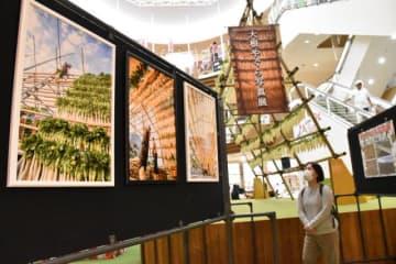 宮崎市田野町の大根やぐらをテーマに開かれている写真展