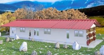 建て替えられる小学校の完成予想図
