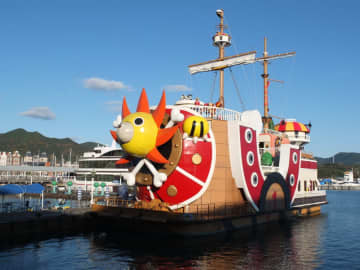 30日からクルーズ船として運航を始めるサウザンド・サニー号=ハウステンボス