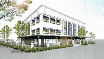 江陽閣と玉姫グループ青森でつくる企業グループが事業提案書に示したレストラン・宴会場の完成予想図