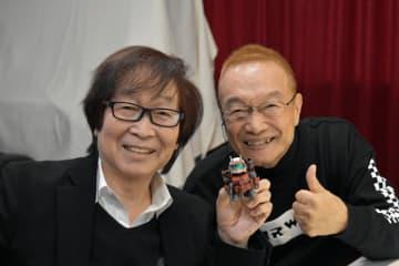 声優の古川登志夫(写真左)と神谷明(写真:ラジオ関西)