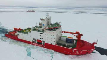「雪竜2号」、南極海プリッツ湾に到着