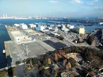 横浜市が、カジノを含む統合型リゾート施設(IR)の立地場所として想定する山下ふ頭=同市中区