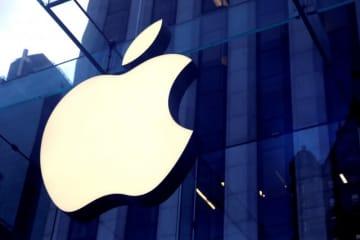 11月20日、Appleは初のオリジナル映画の1つ『The Banker』の世界プレミア上映会を中止すると発表。内容に関する懸念が浮上し、調査を行う。写真はAppleのロゴ。ニューヨークで先月撮影 - (2019年 ロイター/Mike Segar)