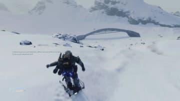 『DEATH STRANDING』で雪山にスキーリゾートを作った配達人現る―「なんとなくやってみようと思った」