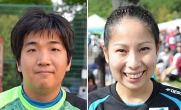 佐藤友祈選手(左)と木山由加選手