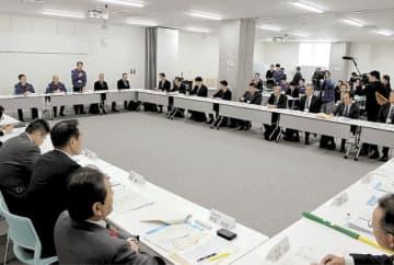 流域の首長らが出席した減災対策協議会
