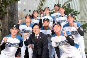 日本ハム、新入団選手の背番号発表 ドラ1河野「28」、立野「33」、上野「48」