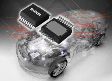 ロームが開発した、最新の半導体ヒューズ「BV2Hx045EFU-C」。業界で初めて単独でシステム保護に成功。電装化が進む自動車の高信頼のシステム構築に貢献