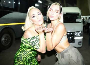 Dua Lipa Shares Stage With Katy Perry In Mumbai, India