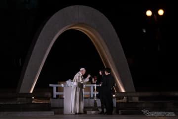 広島を訪れたローマ教皇フランシスコ