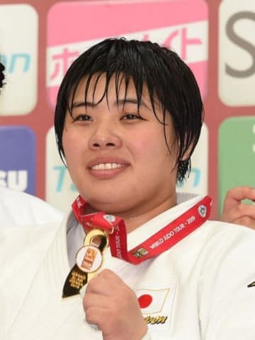 柔道女子の東京五輪代表に決まった素根輝=丸善インテックアリーナ大阪