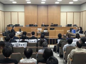 公判が行われた神戸地方裁判所のようす(写真:代表撮影)