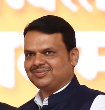 ファドナビス首相=9月、マハラシュトラ州で(インド政府提供)
