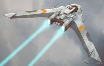 映画『スター・ウォーズ/スカイウォーカーの夜明け』に登場するポルシェの宇宙船のデザインスケッチ