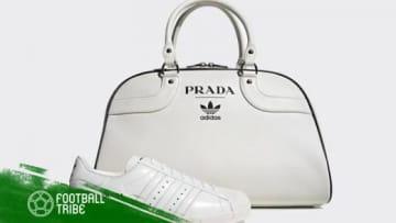 アディダスとプラダが販売するスニーカー&バッグセット 写真提供: Prada Official
