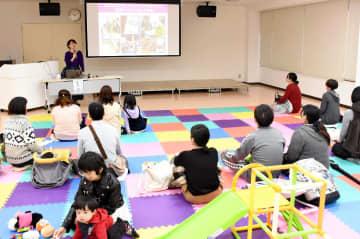 災害時の母親の行動について考えた「防災ママカフェ@唐津」=唐津市の市健康サポートセンターさんて